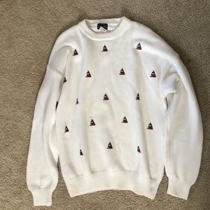 Izod sailboat sweater.